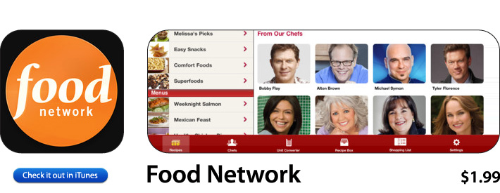Food Network App For iOS