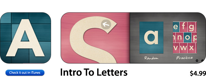 Intro Into Letters App For iOS
