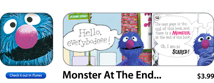 Monster At The End Of This Book App For iOS