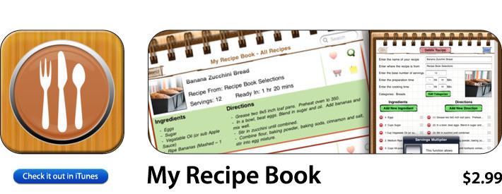 My Recipe Book App For iOS