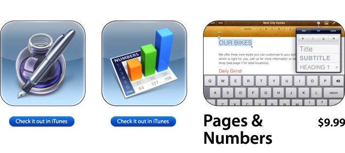 Pages & Numbers For iOS